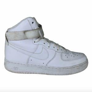 Nike Mens Sz 10 Air Force 1 '07 High White